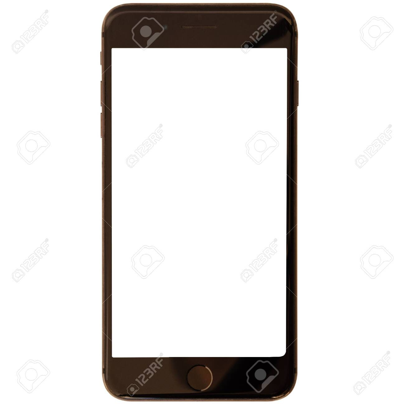 Modern smartphone isolated on white background - 144424004