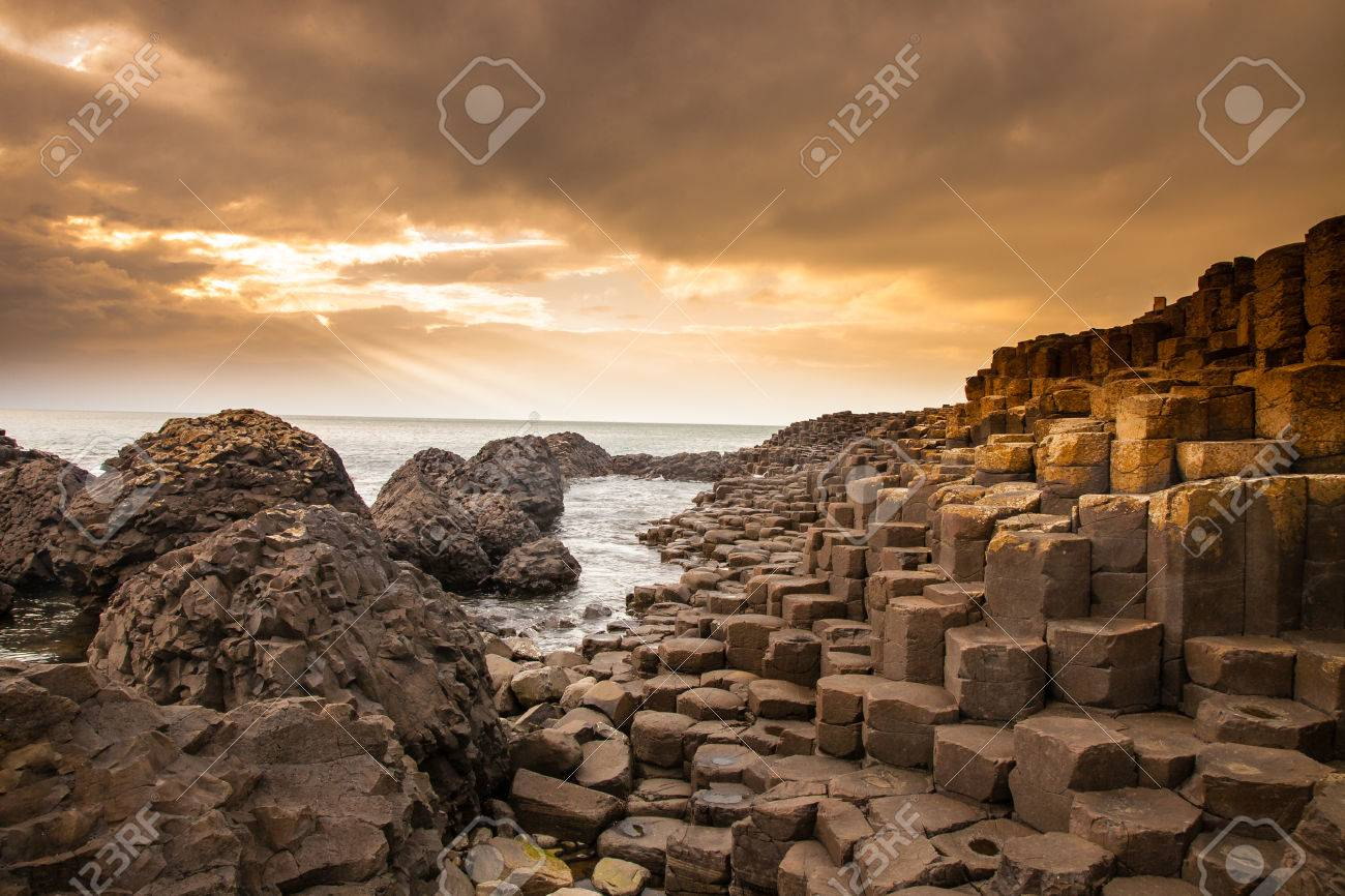 According to legend, the interlocking basalt columns are the remains of a causeway built by legendary giant Finn MacCool - 52496309