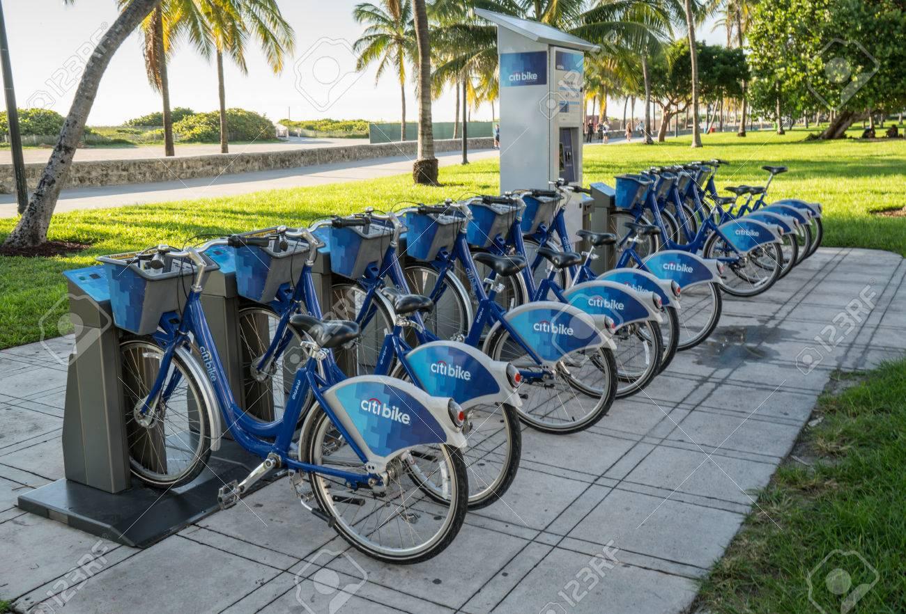 Citi Bike Miami >> Miami Beach Florida Usa October 3 2015 Citi Bike Station