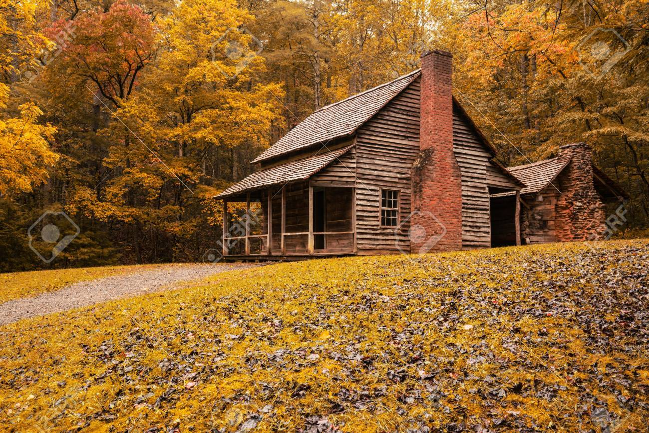 Gatlinburg Tn Oct 8 Autumn At The Henry Whitehead Cabin In