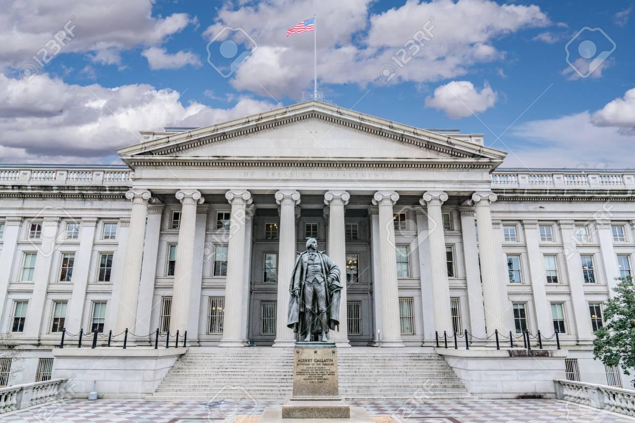 United States Treasury Department Building in Washington, DC - 98877888