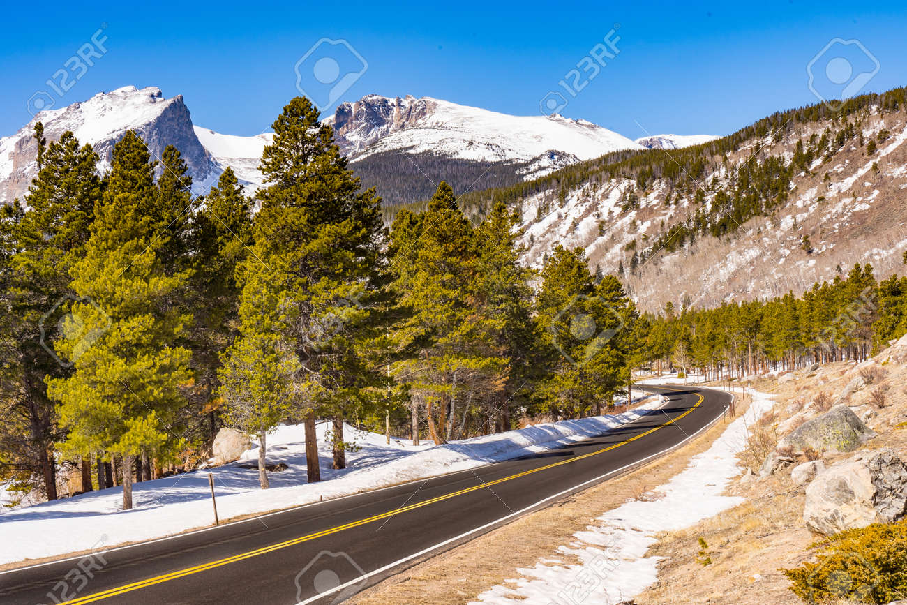 Road into Rocky Mountain National Park in Colorado - 170692496