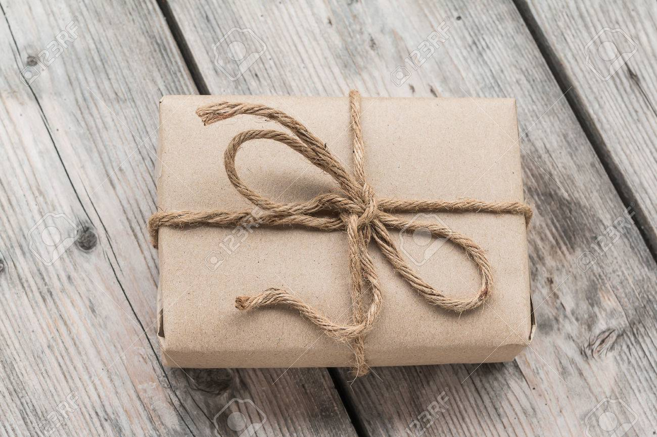 vintage gift box brown paper wrapped with on wood background & 100+ [ Vintage Gift Wrap ] | Unwrapped Creative Gift Wrapping 101 ... Aboutintivar.Com