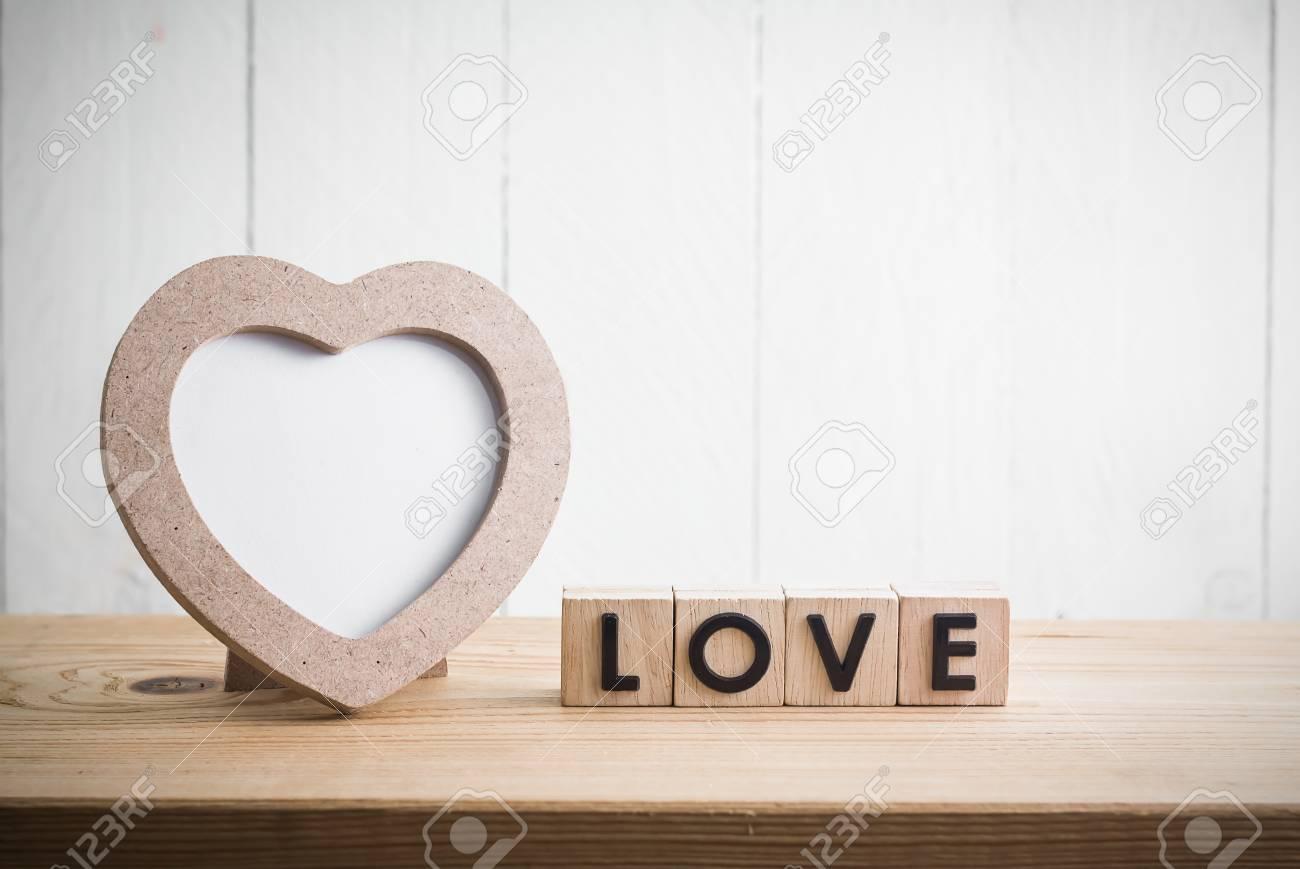 Herz Formte Fotorahmen Mit \