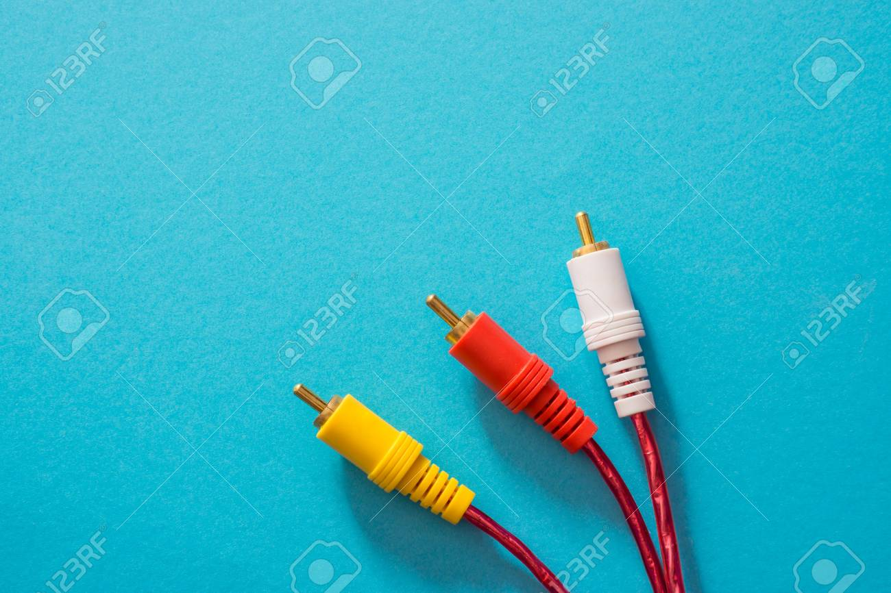 The AV Cable Is Entertainment Device Cable That Is Function.. Stock ...