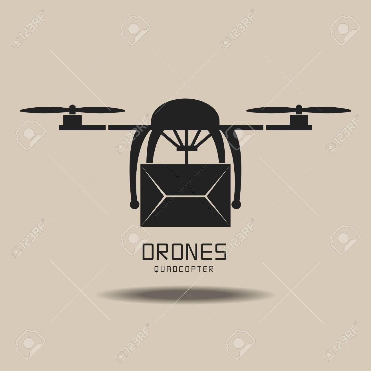 drones delivery ,logo vector - 53128666