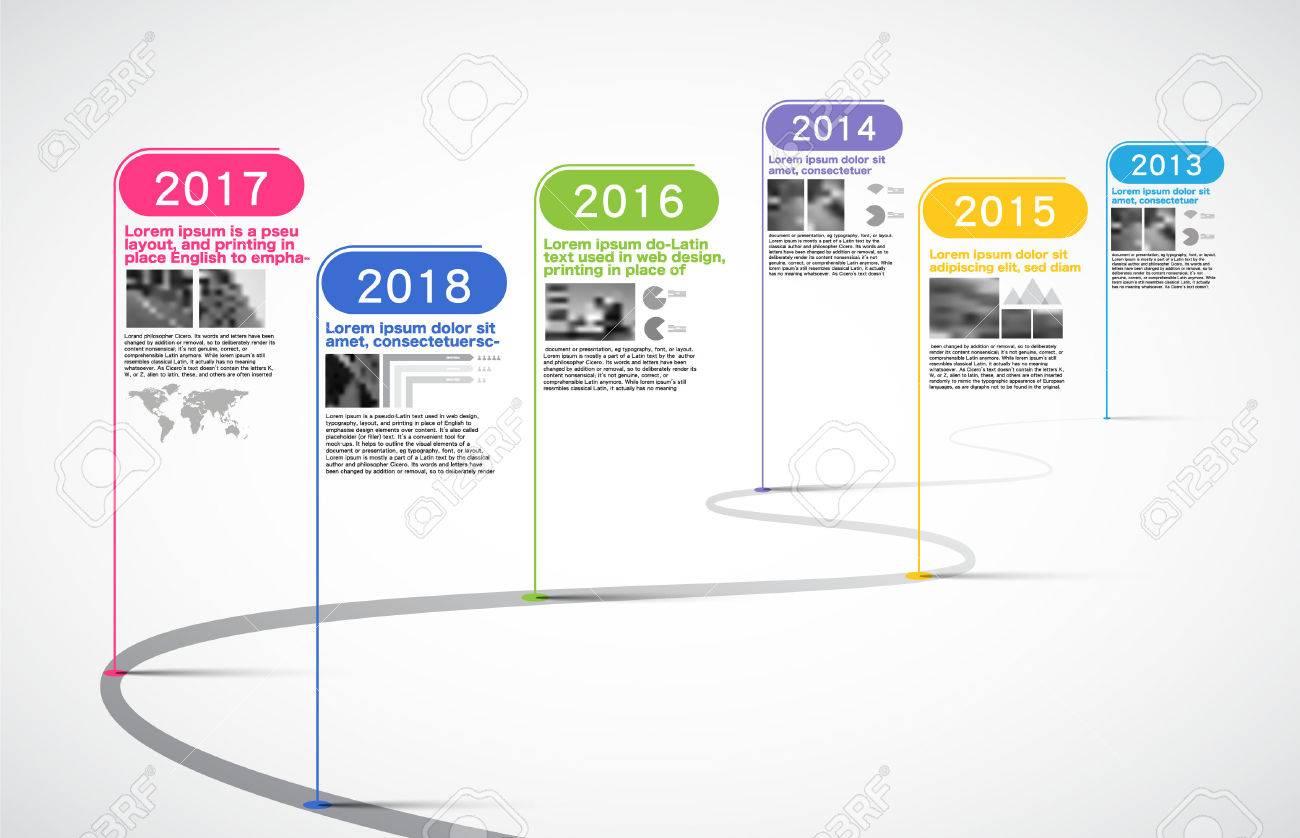 Milestones Company, Timeline Infographic, vector, history; calendar; year; timeline chart - 82617112