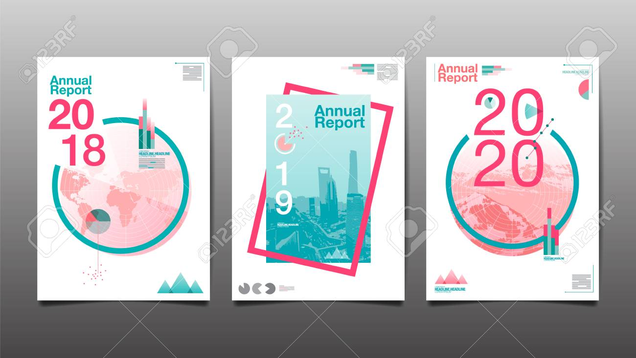 Annual Report 2018,2019,2020, Template Layout Design, Cover Book ...