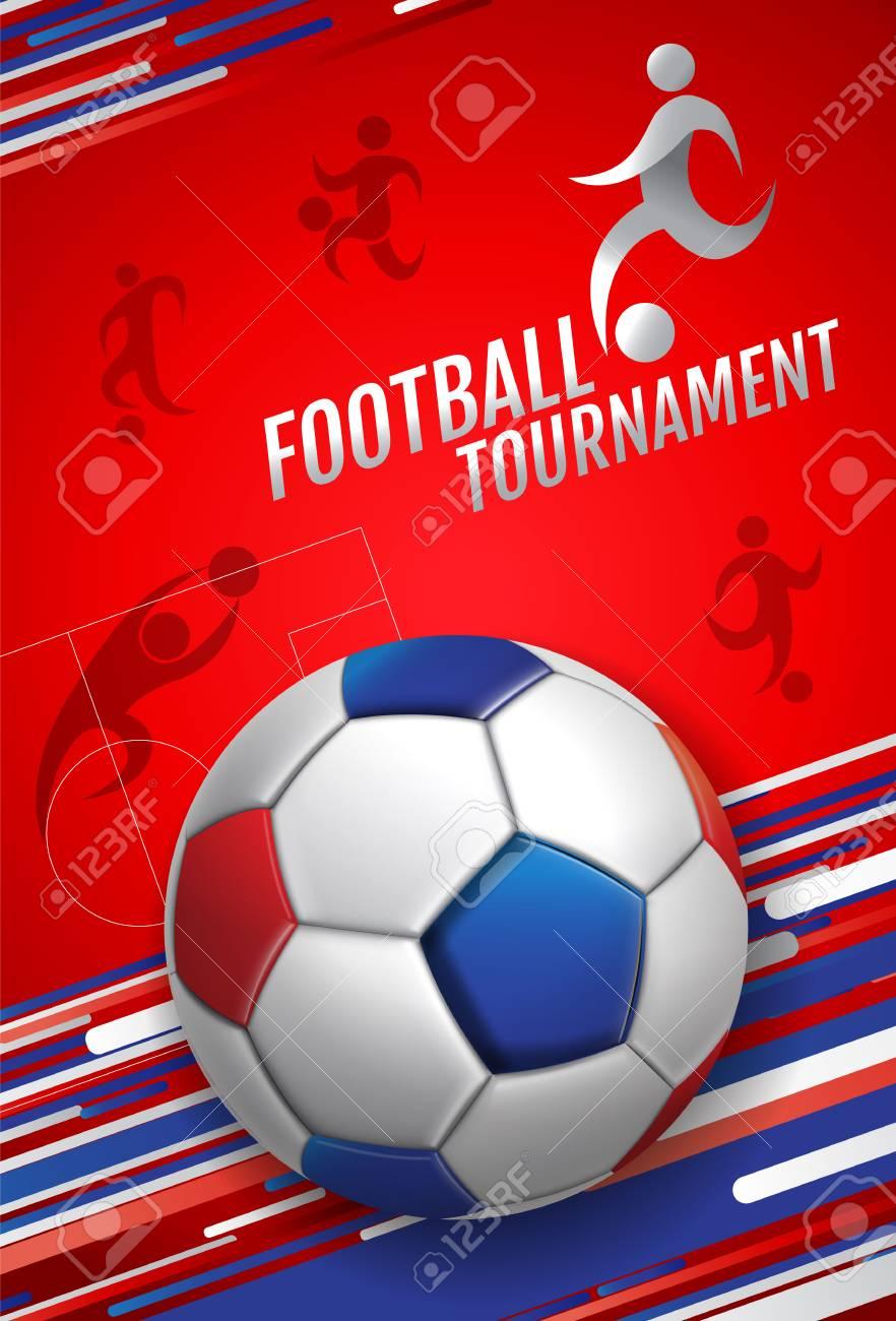 football, soccer, poster, banner template, vector illustration. - 97068991