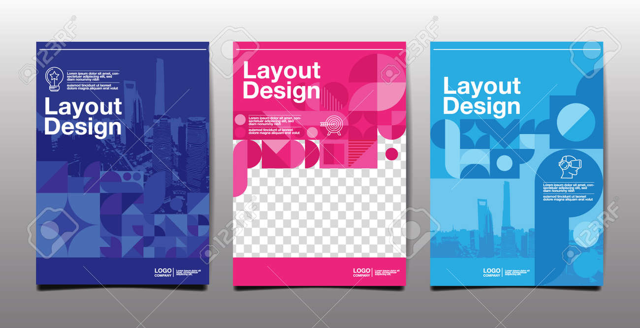 template layout design, cover book. vector illustration , presentation abstract flat background - 173743078