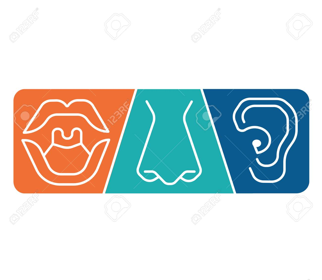 ENT Icon Template Clinic. Otolaryngology Ear, Nose, Throat Doctor ...