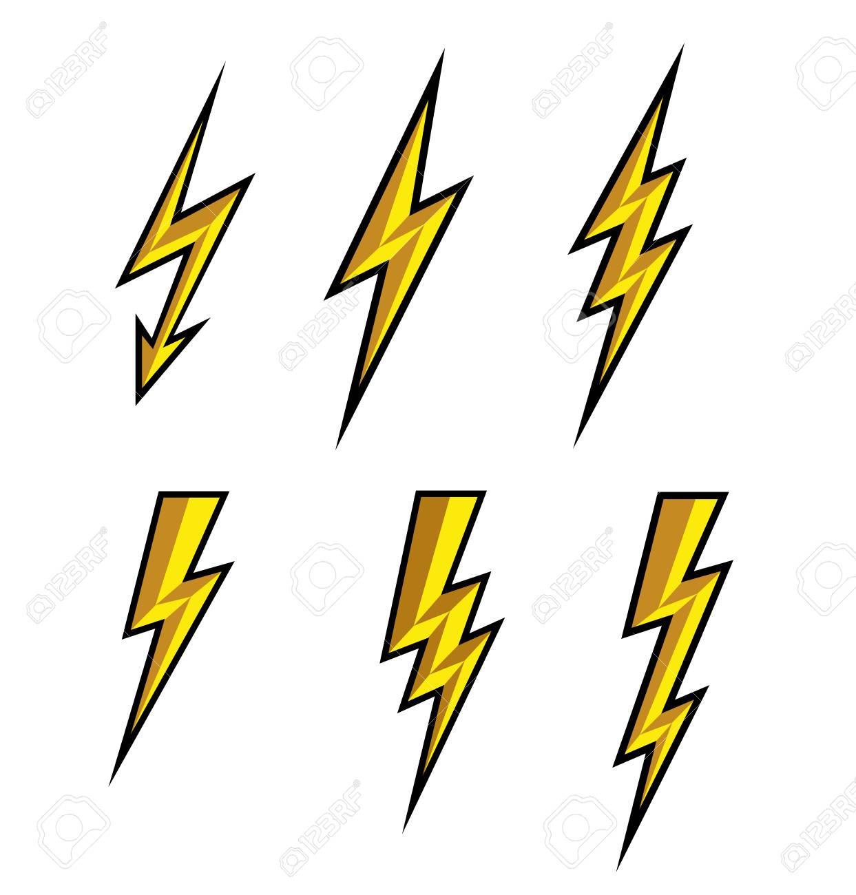 icon lighting. Unique Lighting Lightning Thunderbolt Icon VectorFlash Symbol IllustrationLighting Flash  Icons Set Flat Style In Icon Lighting