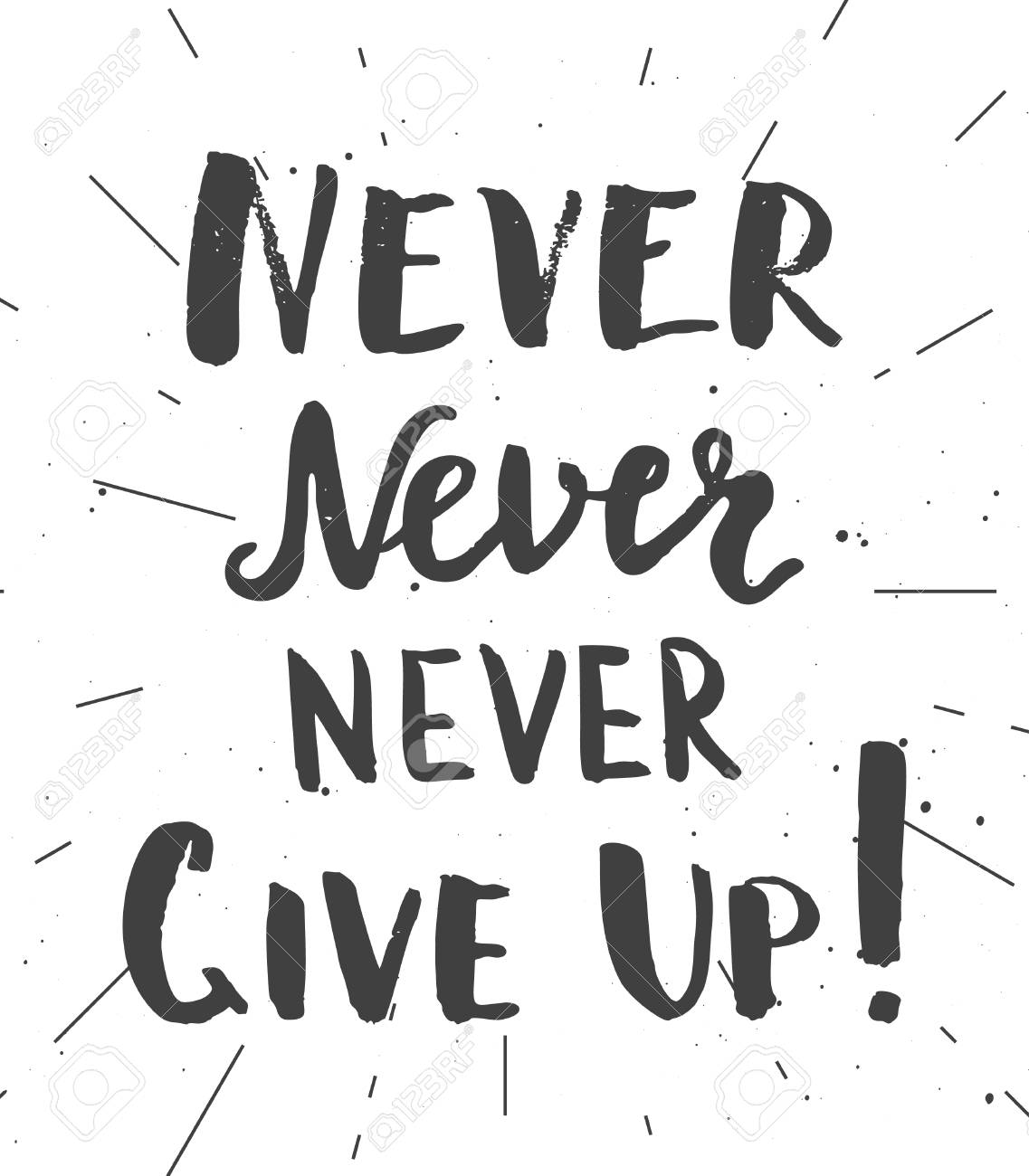 image about Quotes Printable known as Never ever never ever in no way supply up! Printable motivational estimate, hand..