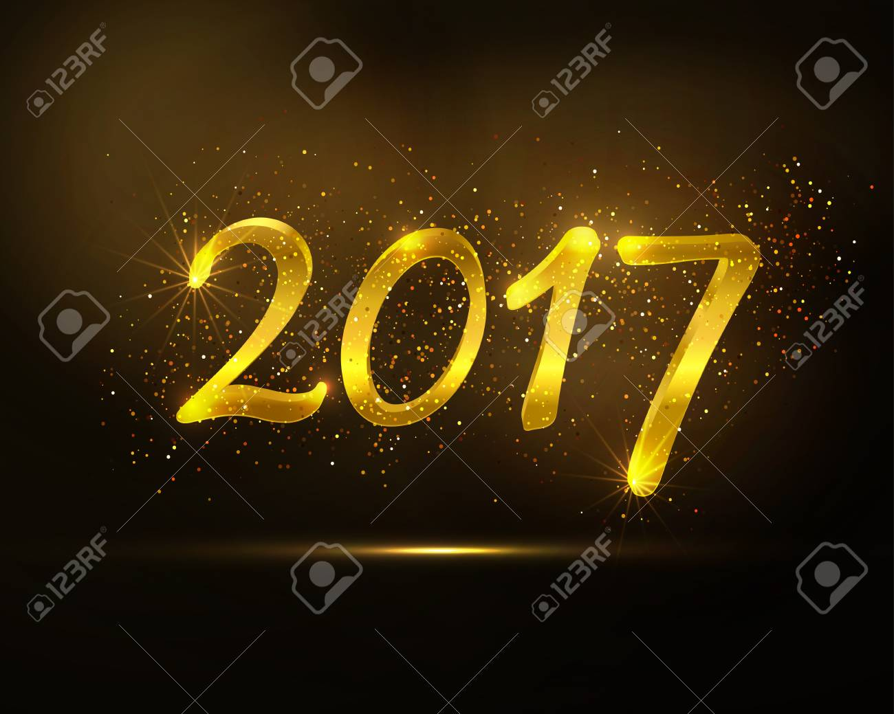 Happy new year greeting card vector golden glittering design happy new year greeting card vector golden glittering design 2017 trendy holiday background m4hsunfo