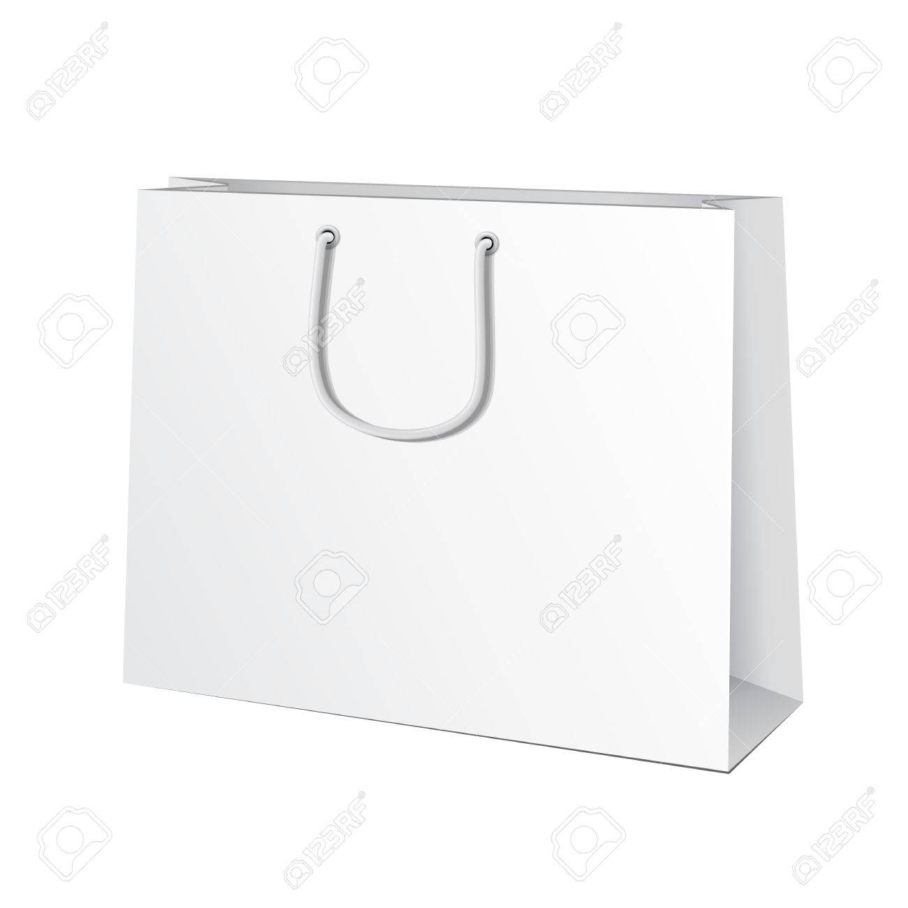 Paper bag vector - Carrier Paper Bag White Illustration Isolated On White Background Ready For Your Design