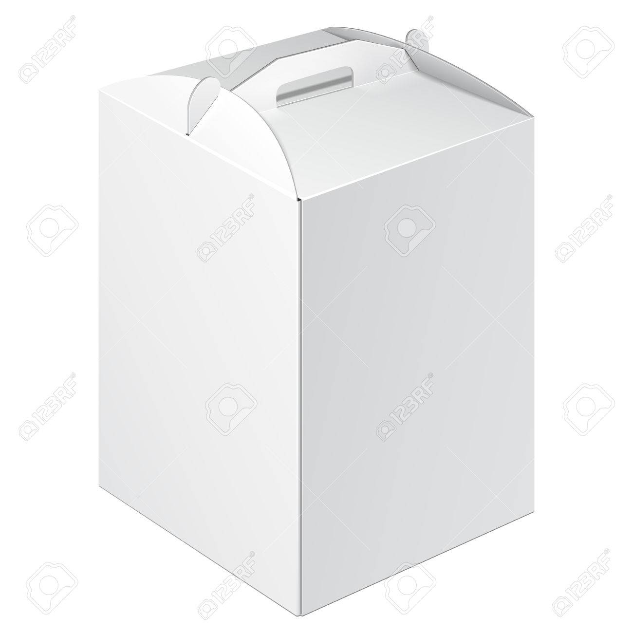 White Tall Square Cardboard Cake Carry Box Packaging For Food ...