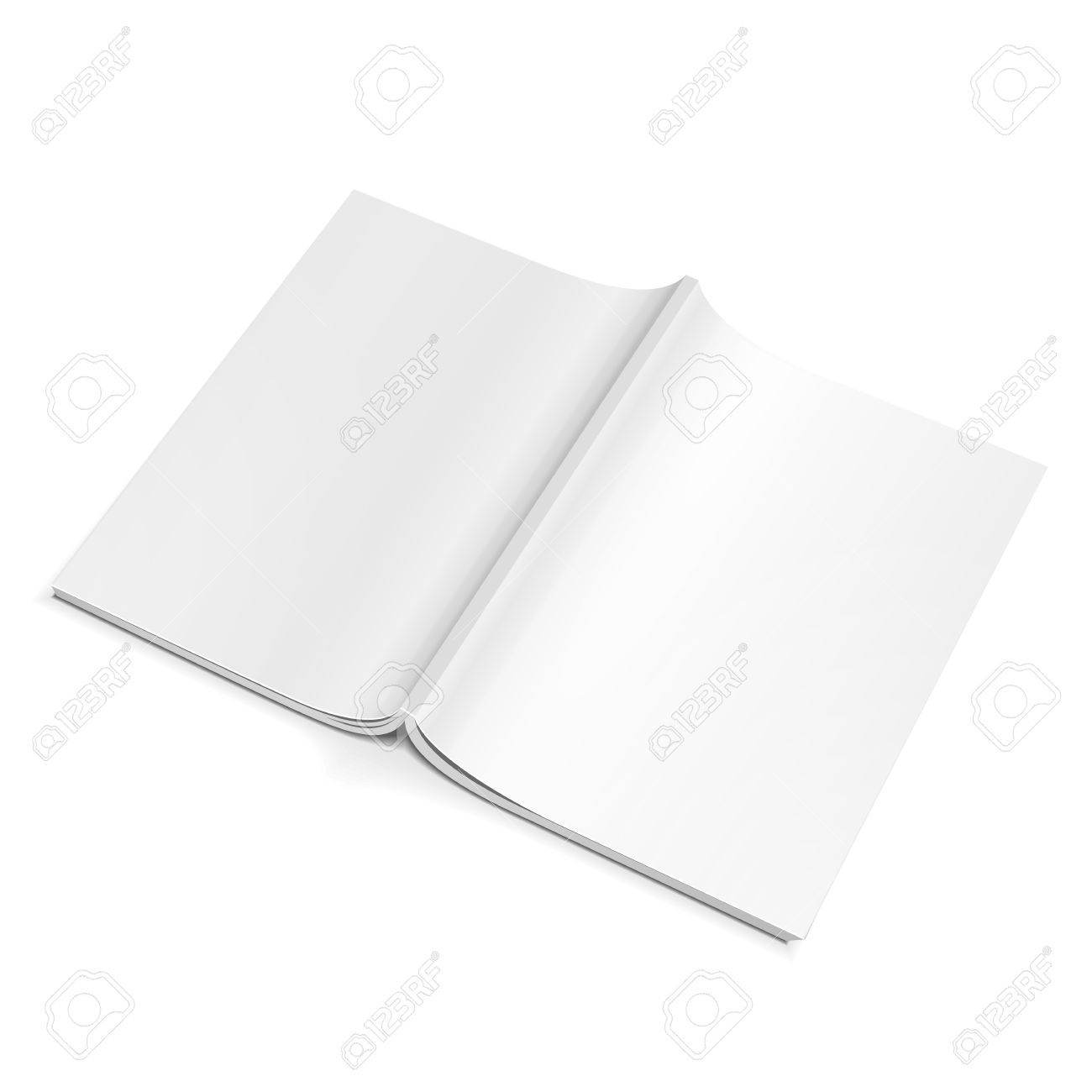 Blank Opened Magazine Back Cover Book Booklet Brochure On - Brochure blank template