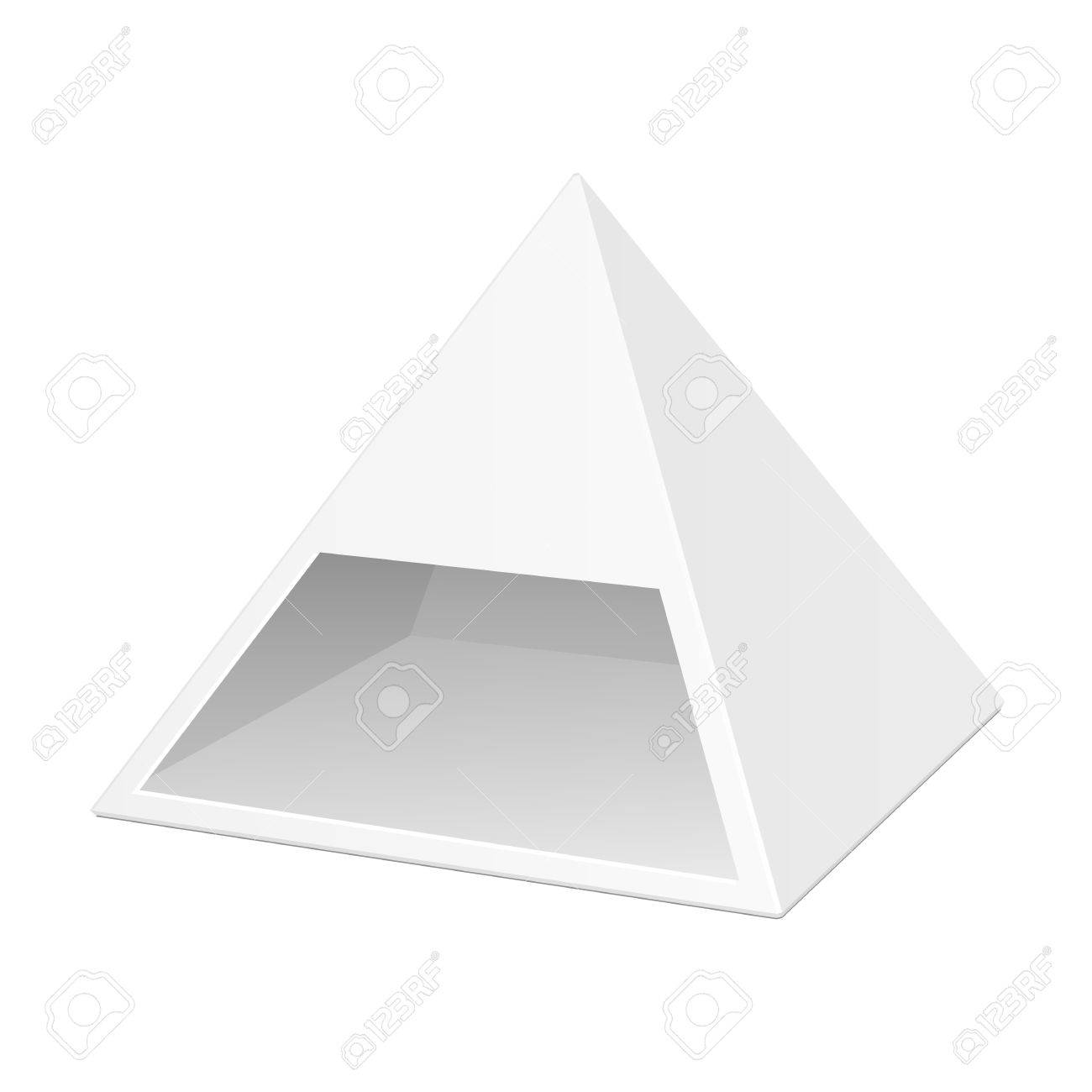 white cardboard pyramid triangle box packaging for food gift