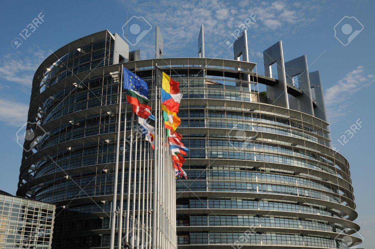 France, the European Parliament of Strasbourg Stock Photo - 12227872