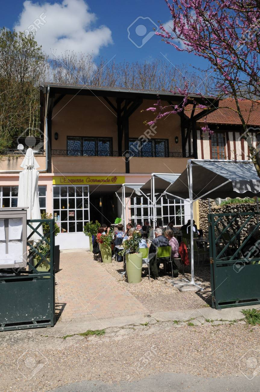 France, the village of Giverny in Eure Stock Photo - 13824588