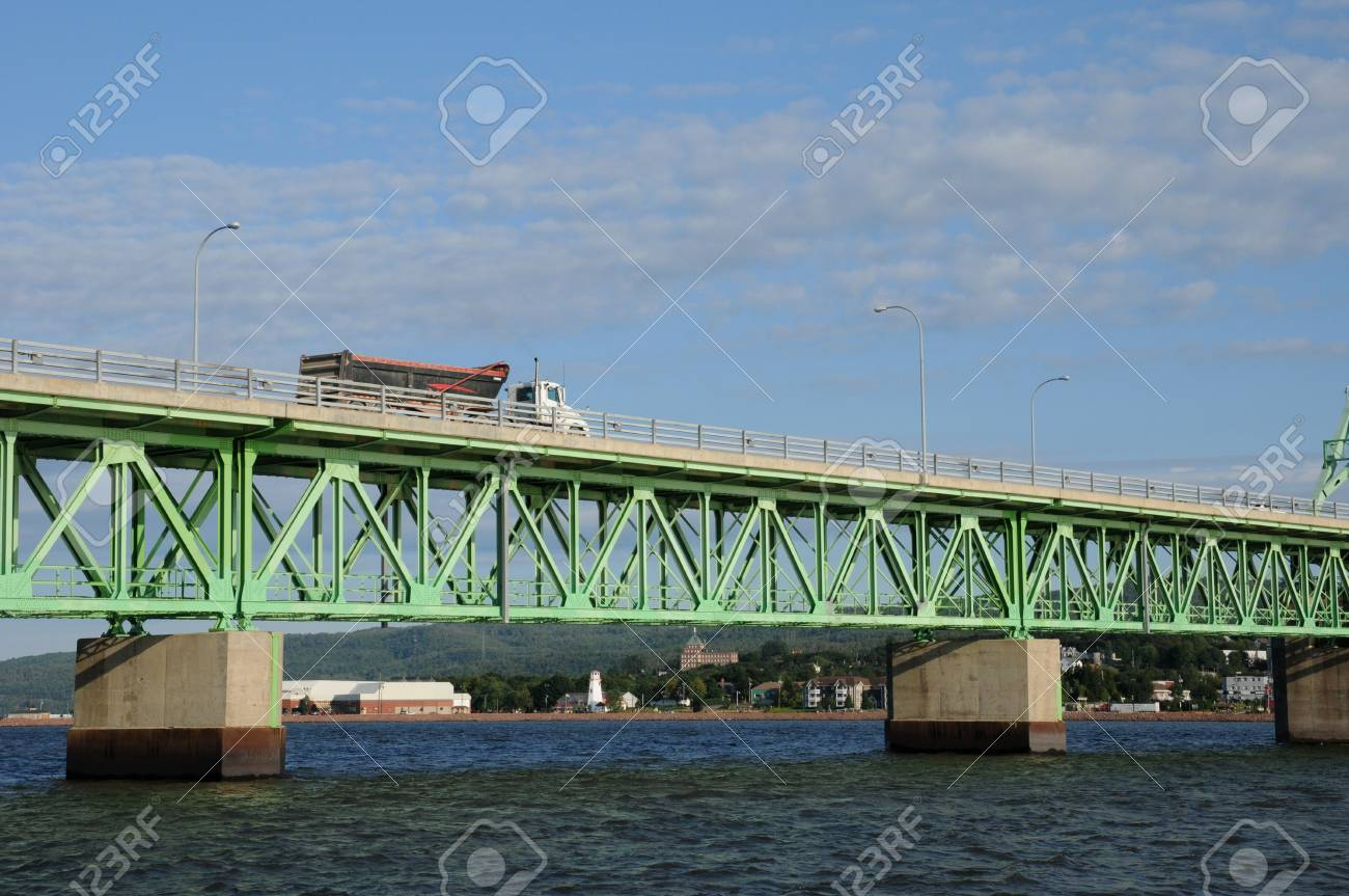 Canada Quebec The Bridge Between Campbellton And Pointe A La Stock Photo Picture And Royalty Free Image Image 16512793