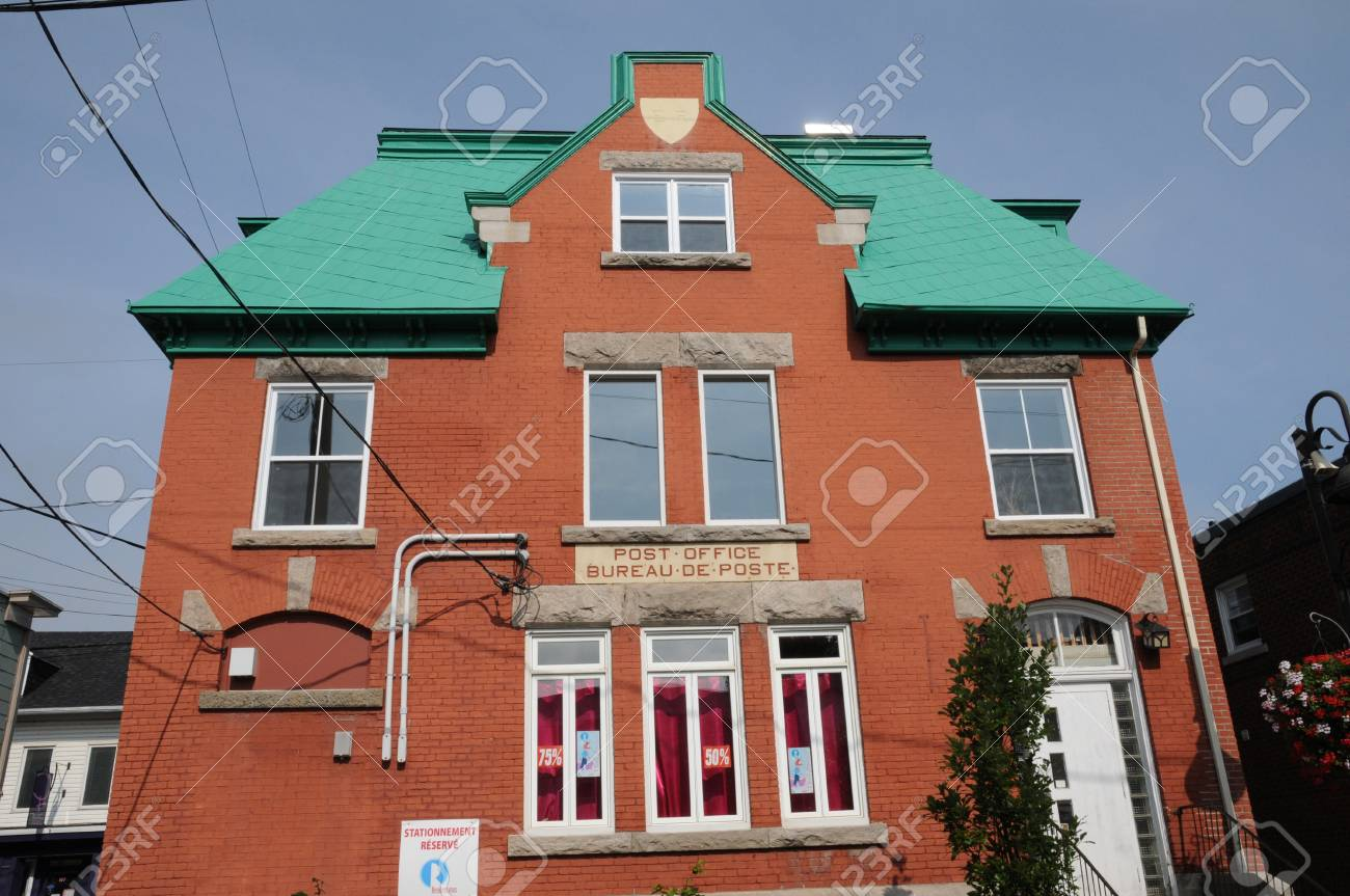 Canada quebec post office in the city of montmagny stock photo