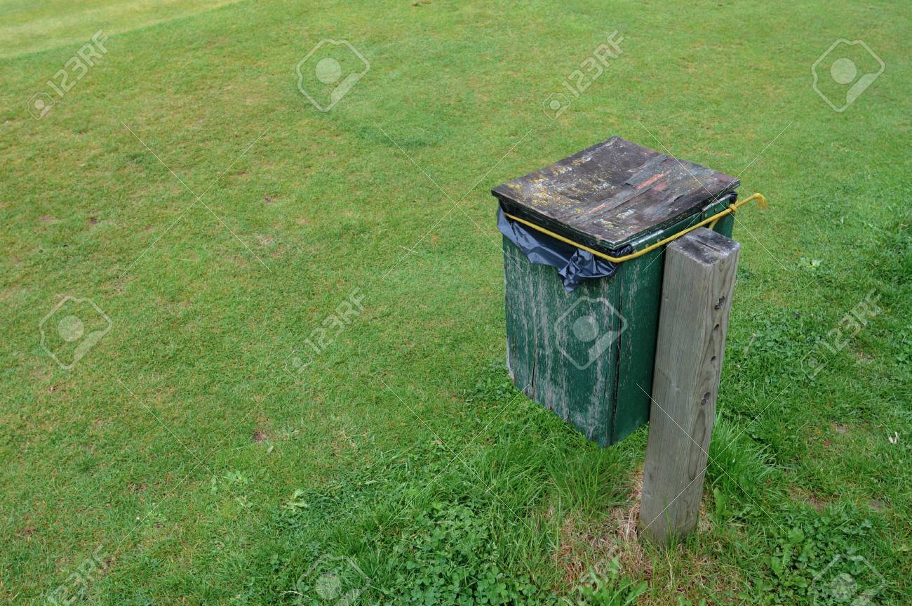 trash can in a public park Stock Photo - 18155522