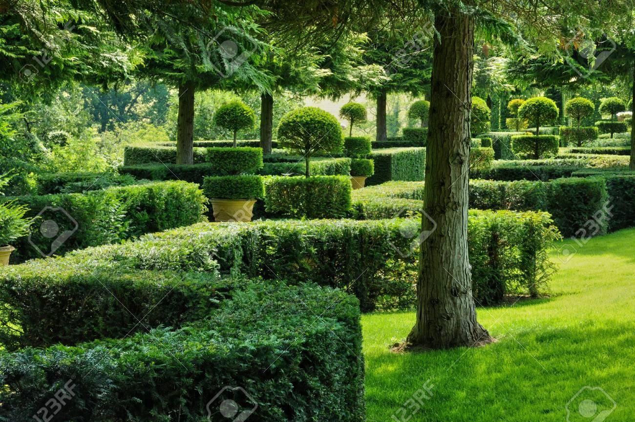 France The Picturesque Jardins Du Manoir D Eyrignac In Dordogne