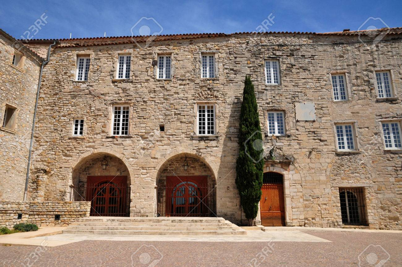 le castellet france april 20 2016 the city hall in the castle stock