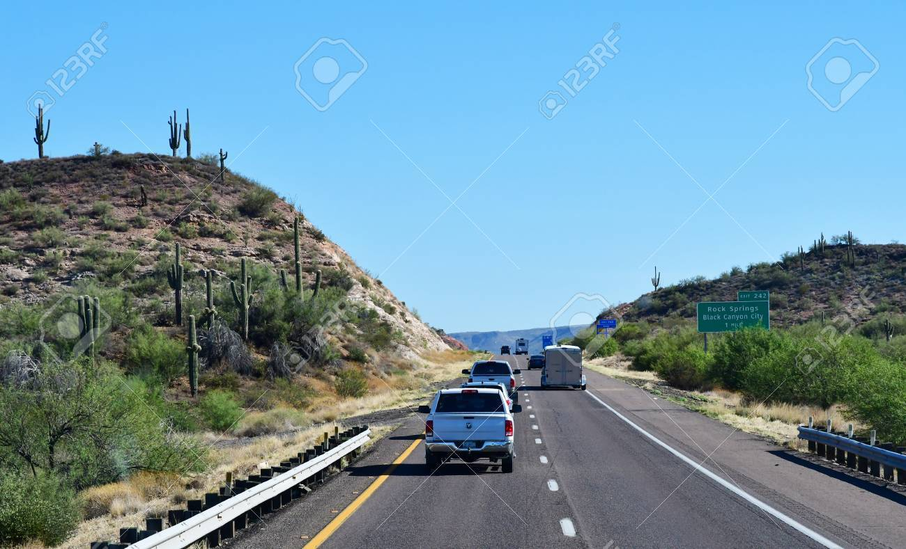 Phoenix To Flagstaff >> Arizona Usa July 7 2016 The Interstate 17 Between Phoenix