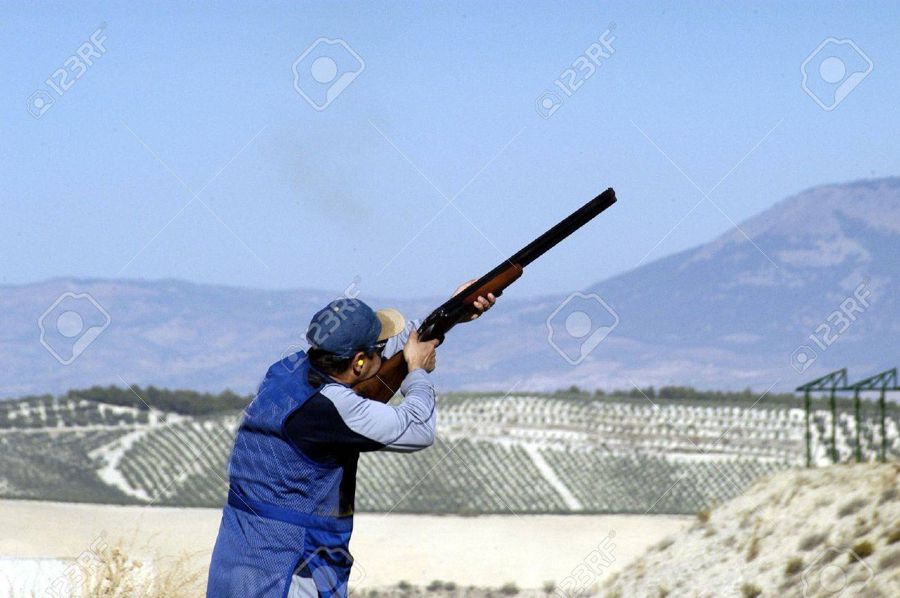 World Championship clay pigeon shooting Stock Photo - 3969228