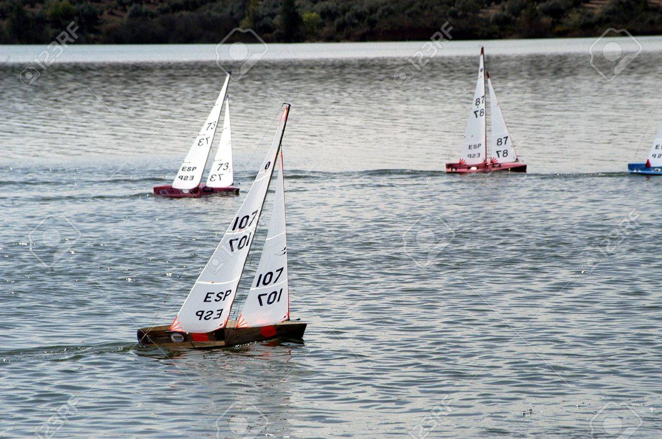 Competition boats sailing in the swamp of radio control in Cubillas