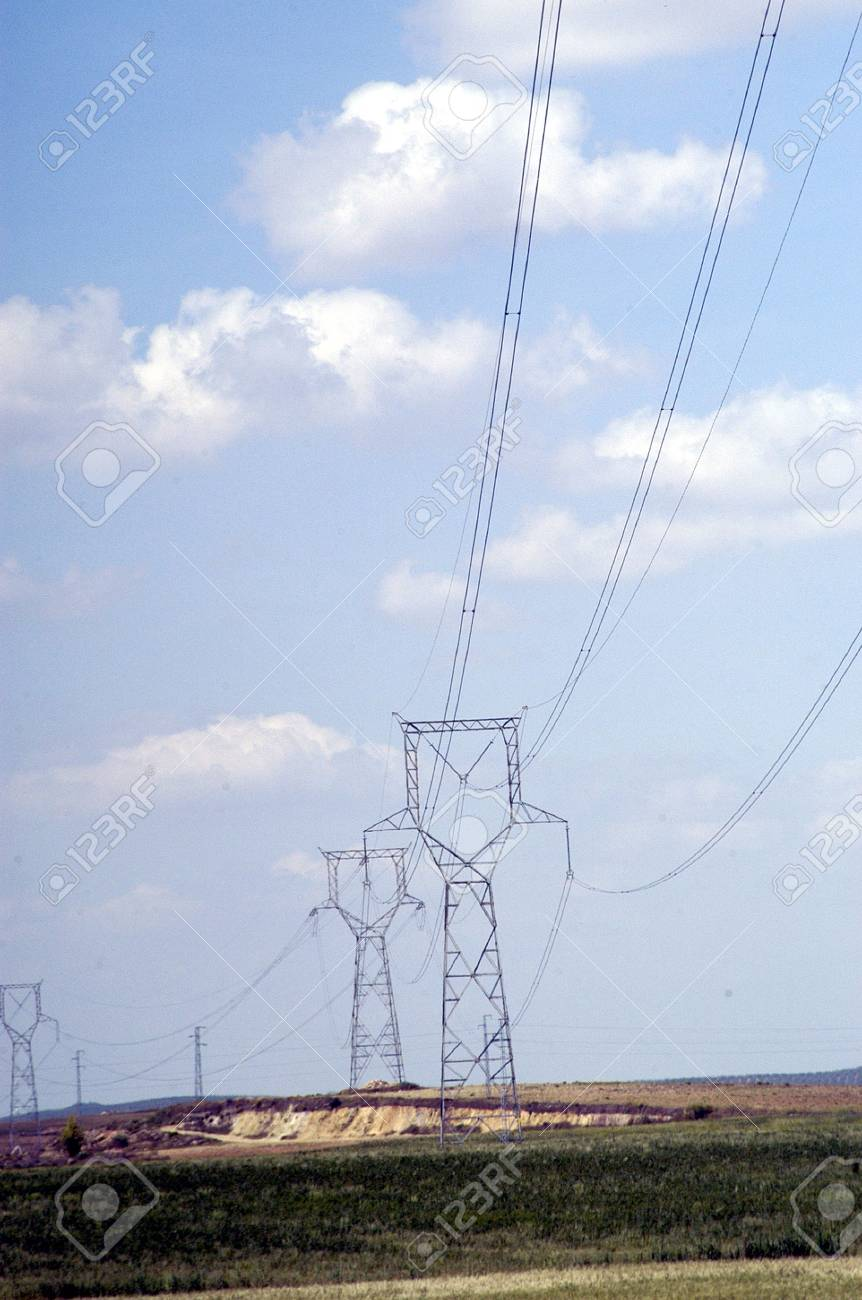 High-voltage electric pole Stock Photo - 6058787