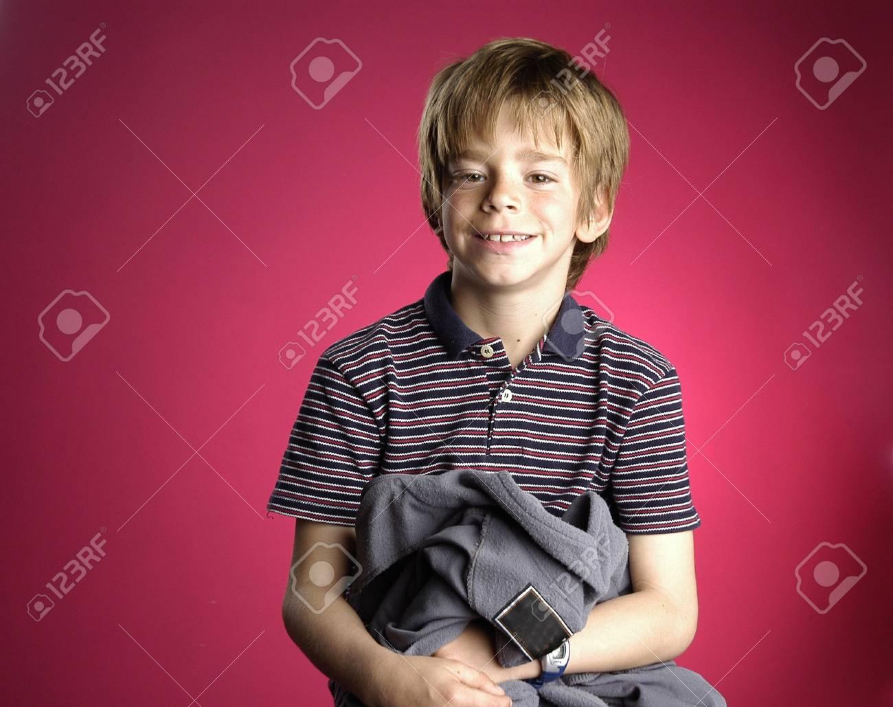 Blond child study Stock Photo - 6773035
