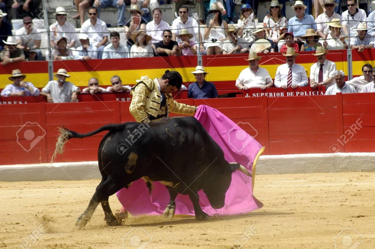 The bullfighter Morante de la Puebla in the bullfight held in Granada on 7 June 2007, at Feria de Corpus Stock Photo - 6891373