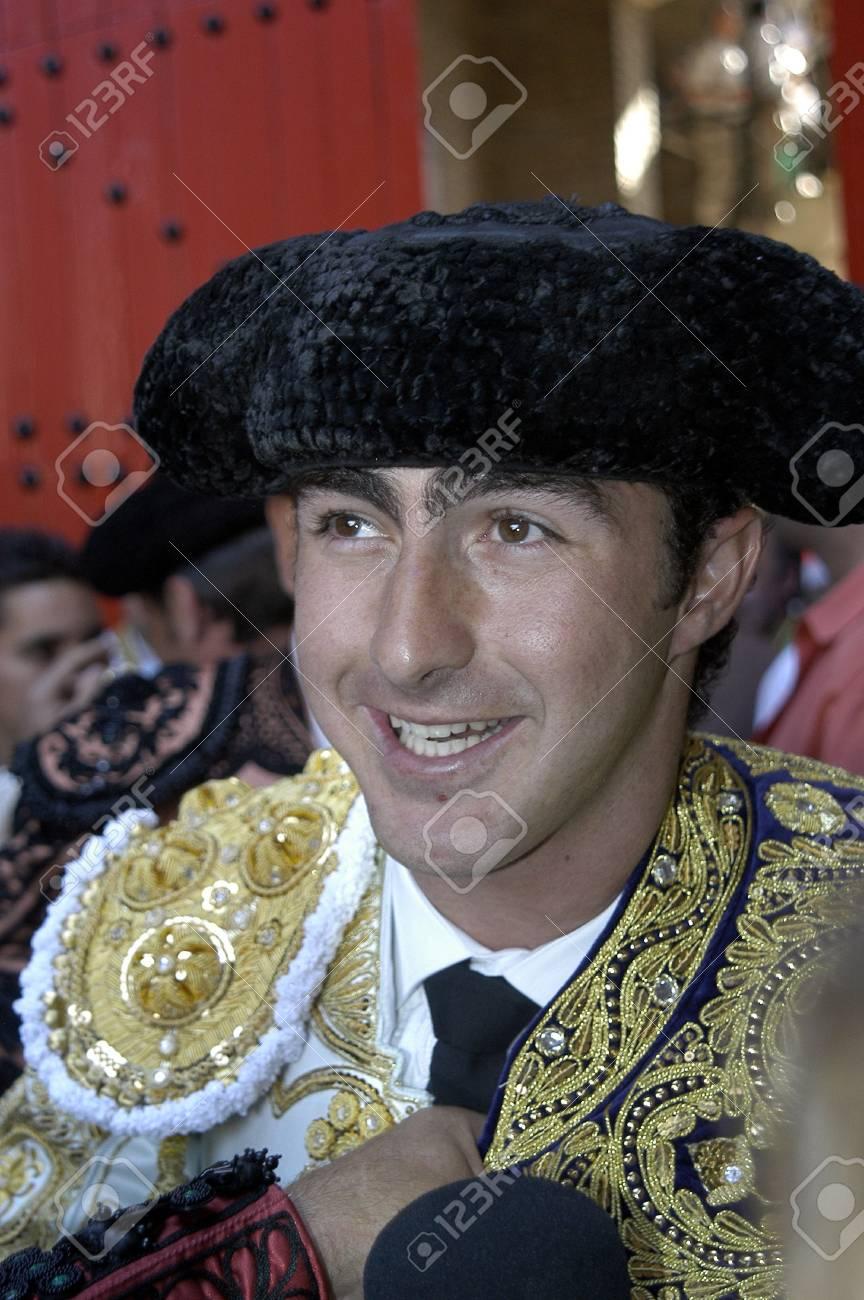 The bullfighter David Fandila, El Fandi, in the bullfight held in Granada on 7 June 2007, at Feria de Corpus Stock Photo - 6895857