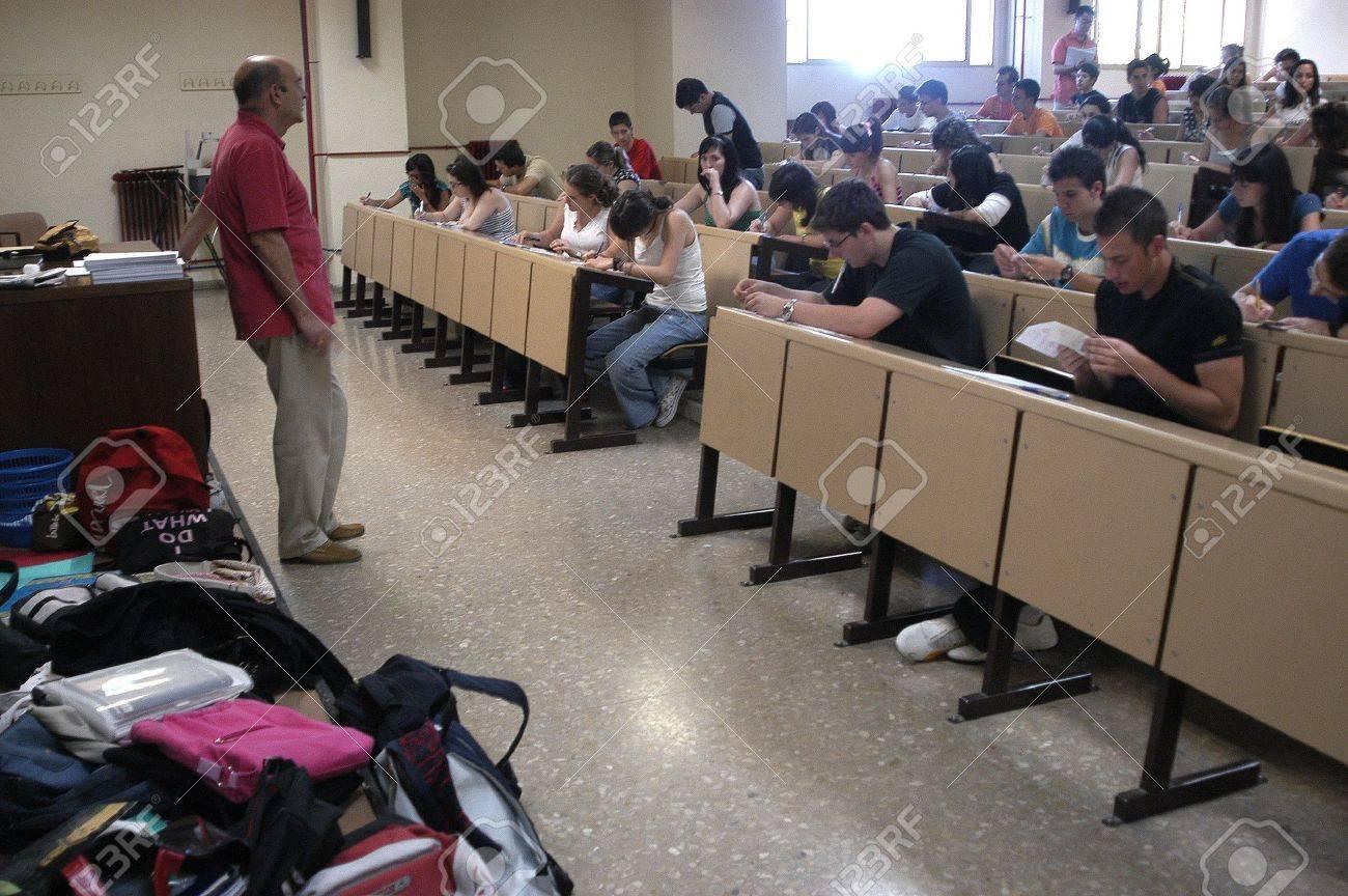 las pruebas de selectividad para acceder a la universidad, en la Facultad de Farmacia de la Universidad de Granada 19/06/2007 Foto de archivo - 9588097