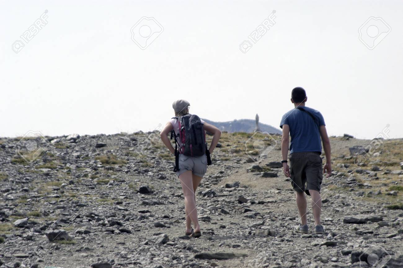 Trekking in Sierra Nevada Stock Photo - 7557532