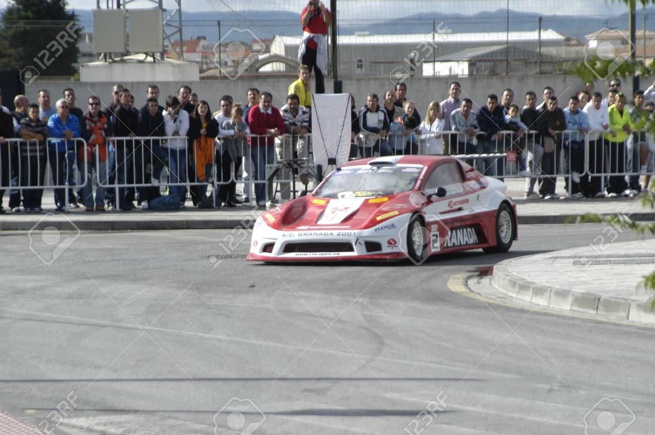2010/12/10 - Granada - Spain - Display With Racing Car Racing ...