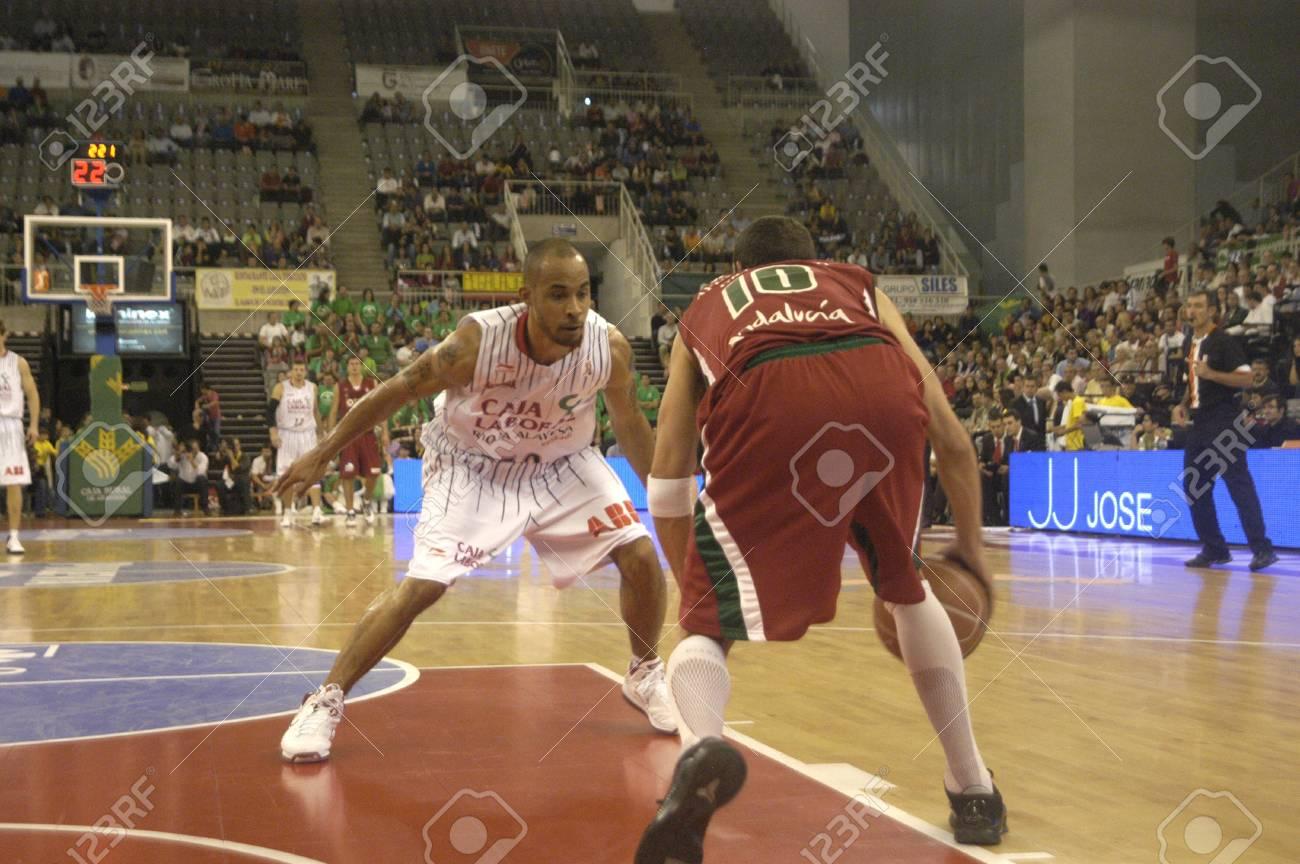 2010/10/24- Granada-Spain-party basketball ACB CB Granada between Granada and the work of Vitoria Box Stock Photo - 8151500
