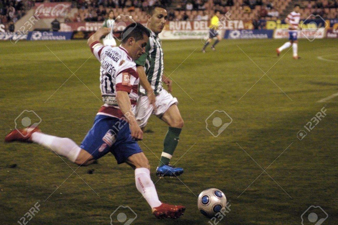 2010/03/27 - Granada - Spain-football game between the Granada and Betis Stock Photo - 8485347