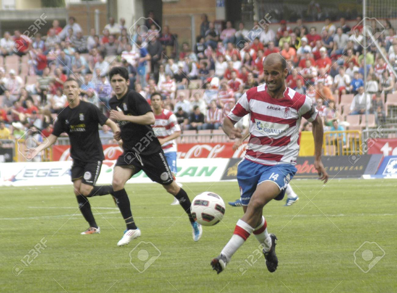 football match between the second division granada and cartagena cf 02/04/2011 Stock Photo - 9690824