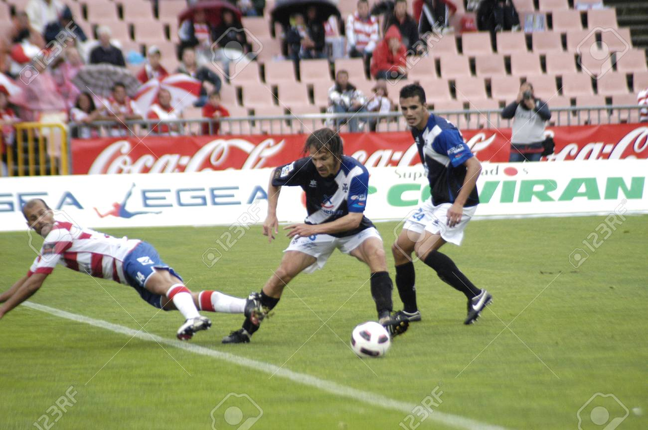 football match between granada and tenerife cf 05/01/2011 Stock Photo - 9690901