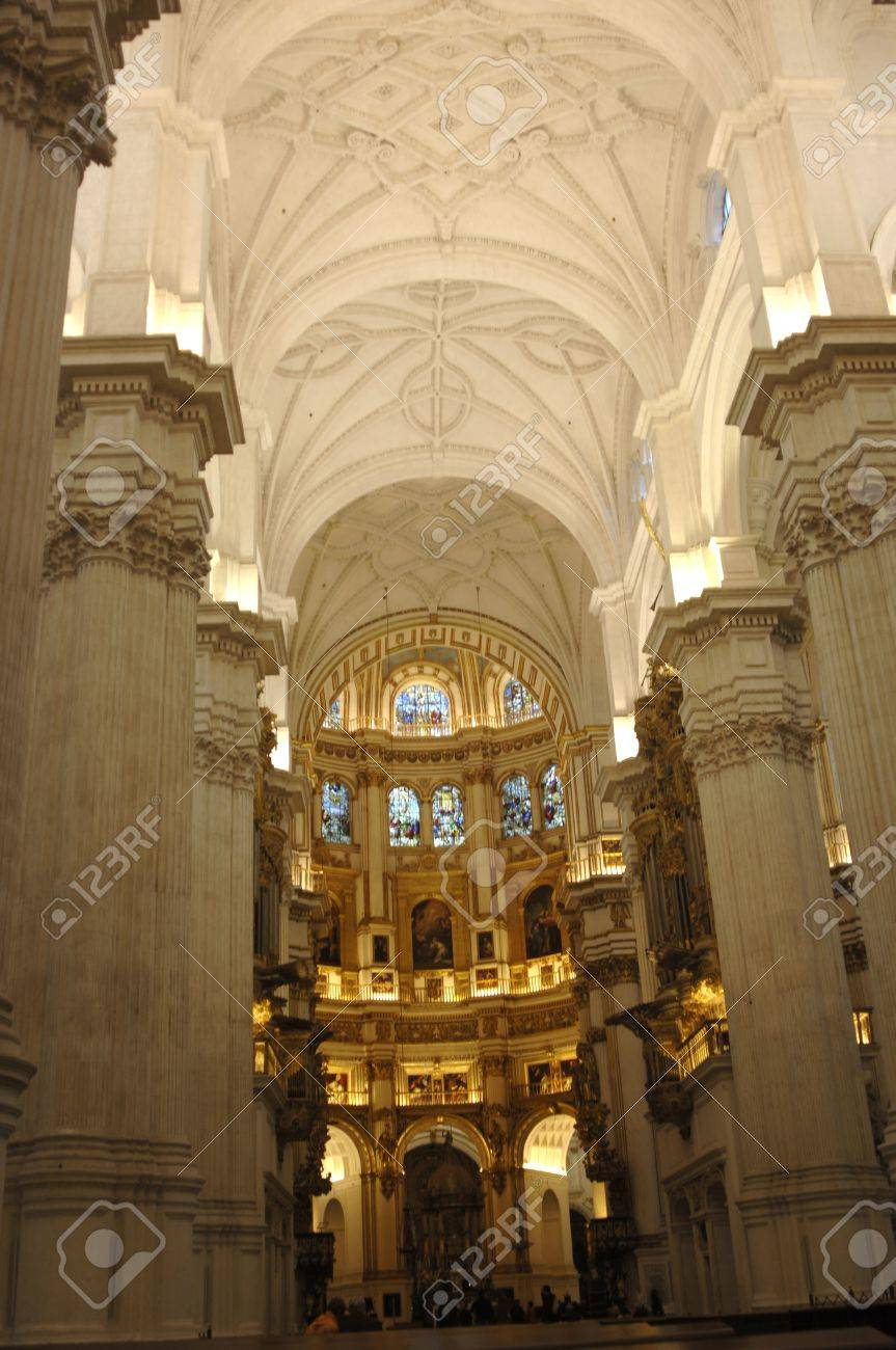 inside the cathedral of granada. 17/11/2011 Stock Photo - 11302048