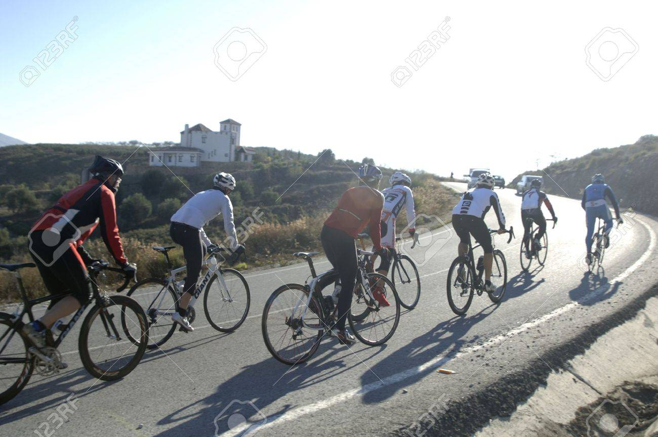 cyclists on the road Stock Photo - 11400858