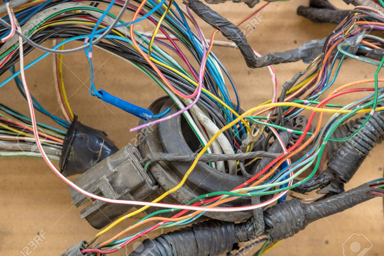 Messy Car Wiring Switch Diagram Old Wires Stock Photo Picture And Royalty Free Image Rh 123rf Com