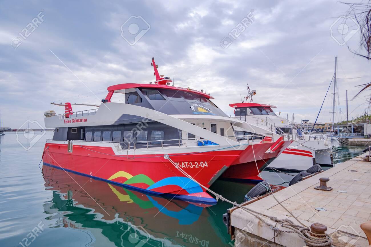 1st April 2019Beautiful port of Alicante, Spain at Mediterranean