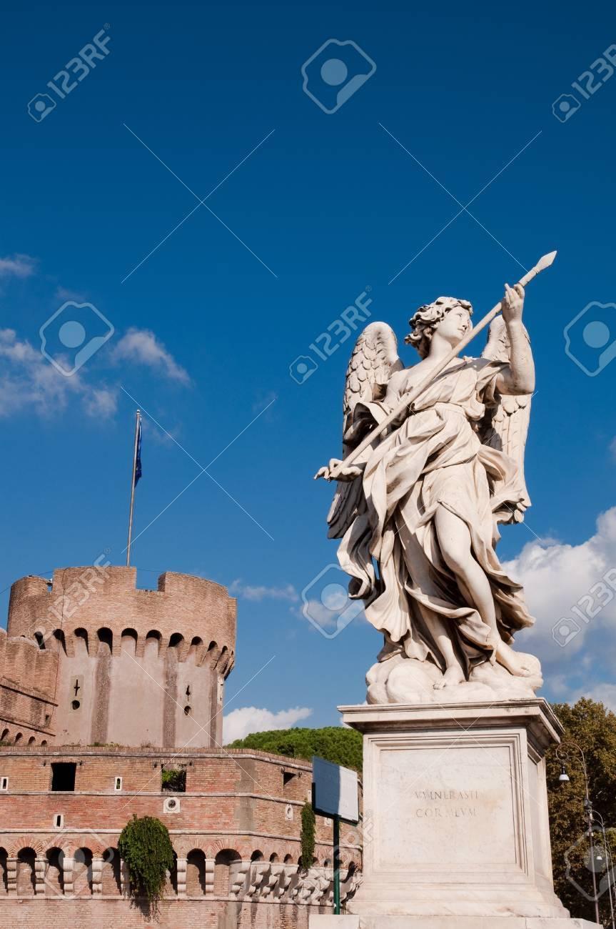 Angel at Bridge in Castel Sant Stock Photo - 16452012