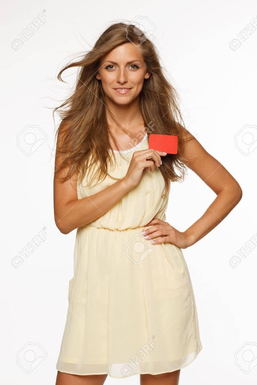 ff80fa81bc0 Banque d images - Belle femme en robe légère d été