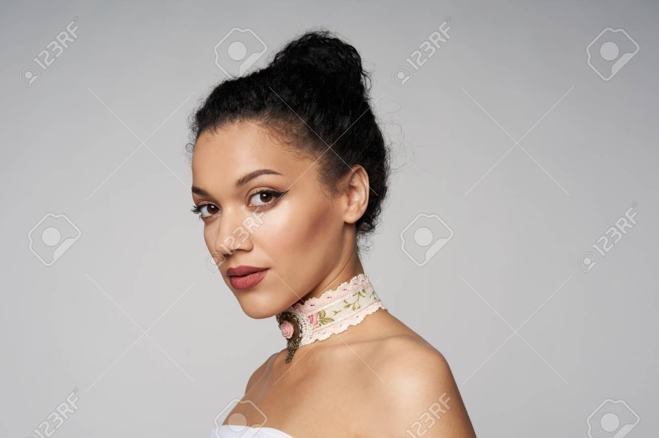 Beautiful woman profile